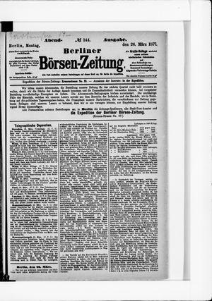 Berliner Börsen-Zeitung vom 26.03.1877