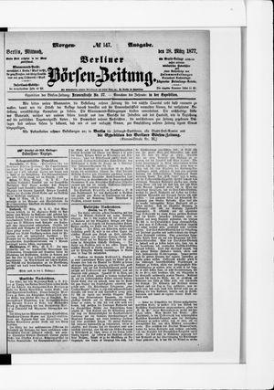 Berliner Börsen-Zeitung vom 28.03.1877