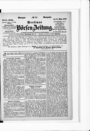 Berliner Börsen-Zeitung vom 30.03.1877
