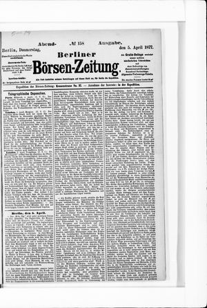 Berliner Börsen-Zeitung vom 05.04.1877