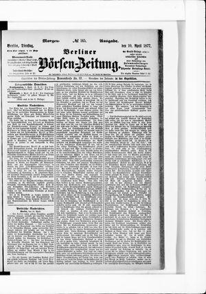 Berliner Börsen-Zeitung vom 10.04.1877