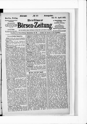 Berliner Börsen-Zeitung vom 13.04.1877