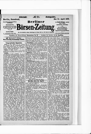 Berliner Börsen-Zeitung vom 14.04.1877