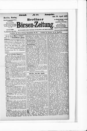Berliner Börsen-Zeitung vom 23.04.1877