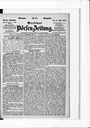 Berliner Börsen-Zeitung vom 28.04.1877