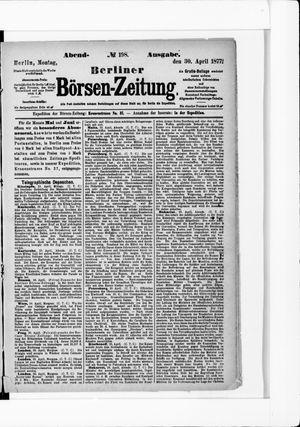 Berliner Börsen-Zeitung vom 30.04.1877