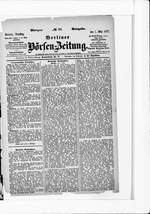 Berliner Börsen-Zeitung vom 01.05.1877