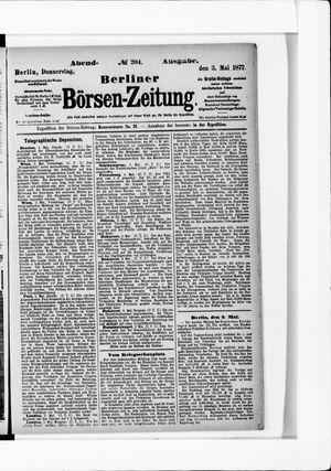 Berliner Börsen-Zeitung on May 3, 1877