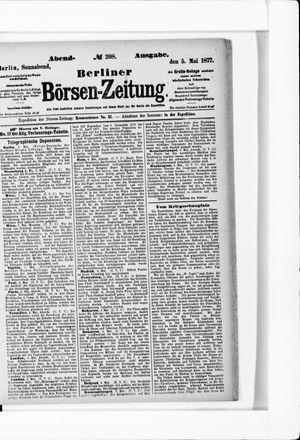 Berliner Börsen-Zeitung vom 05.05.1877