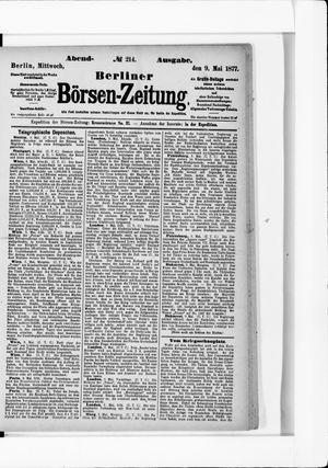 Berliner Börsen-Zeitung vom 09.05.1877