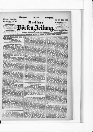 Berliner Börsen-Zeitung vom 10.05.1877
