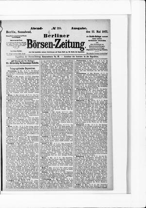 Berliner Börsen-Zeitung vom 12.05.1877