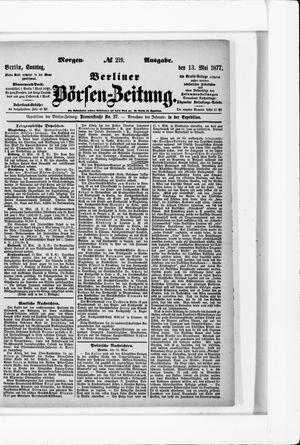 Berliner Börsen-Zeitung vom 13.05.1877