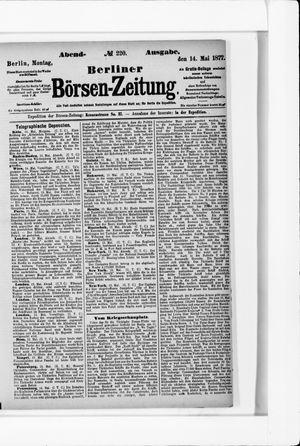 Berliner Börsen-Zeitung vom 14.05.1877