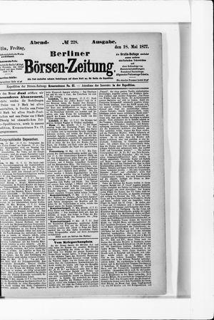 Berliner Börsen-Zeitung vom 18.05.1877
