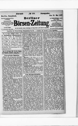 Berliner Börsen-Zeitung vom 19.05.1877