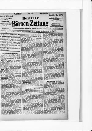 Berliner Börsen-Zeitung on May 23, 1877