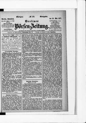 Berliner Börsen-Zeitung vom 26.05.1877