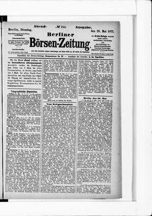 Berliner Börsen-Zeitung vom 29.05.1877