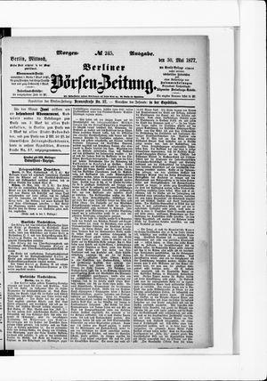 Berliner Börsen-Zeitung vom 30.05.1877