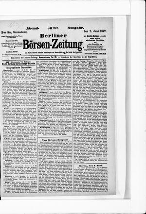 Berliner Börsen-Zeitung vom 02.06.1877