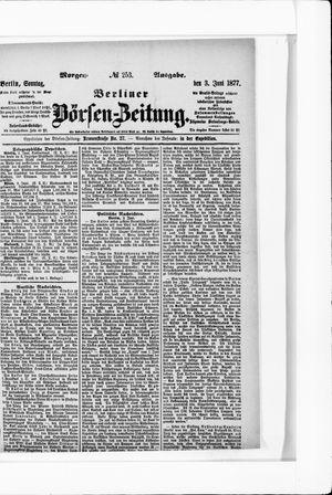 Berliner Börsen-Zeitung vom 03.06.1877