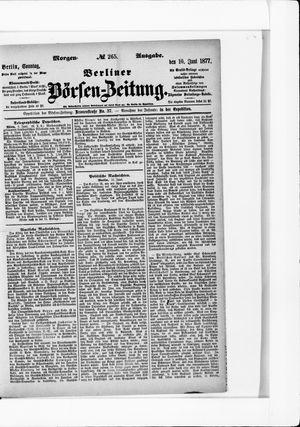 Berliner Börsen-Zeitung vom 10.06.1877