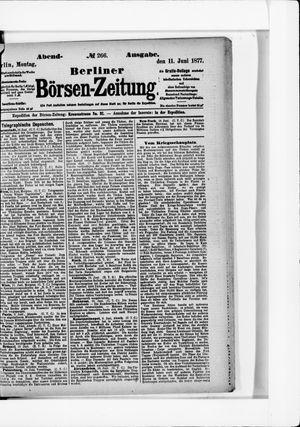 Berliner Börsen-Zeitung vom 11.06.1877