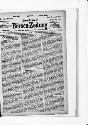 Berliner Börsen-Zeitung vom 13.06.1877