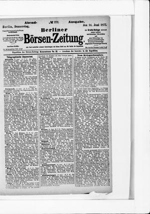 Berliner Börsen-Zeitung vom 14.06.1877