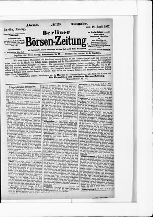 Berliner Börsen-Zeitung vom 18.06.1877