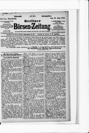 Berliner Börsen-Zeitung vom 23.06.1877