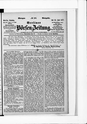Berliner Börsen-Zeitung vom 24.06.1877