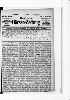 Berliner Börsen-Zeitung vom 25.06.1877