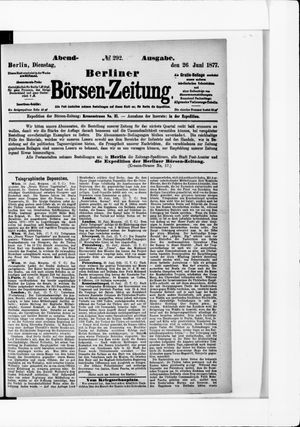 Berliner Börsen-Zeitung vom 26.06.1877