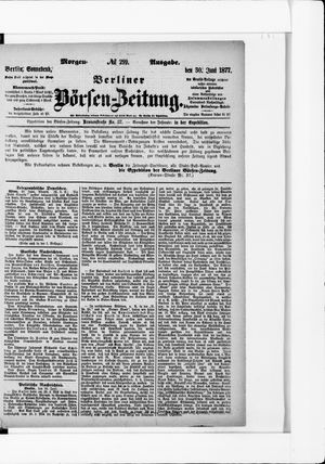 Berliner Börsen-Zeitung vom 30.06.1877