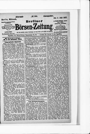 Berliner Börsen-Zeitung vom 04.07.1877