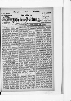 Berliner Börsen-Zeitung vom 08.07.1877
