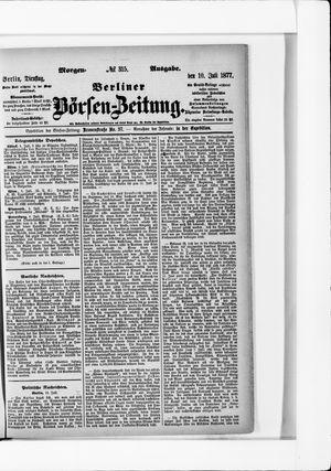 Berliner Börsen-Zeitung vom 10.07.1877