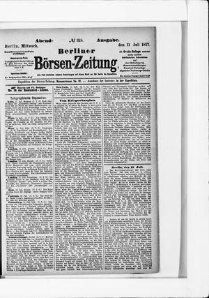 Berliner Börsen-Zeitung vom 11.07.1877