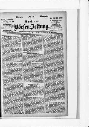 Berliner Börsen-Zeitung on Jul 12, 1877