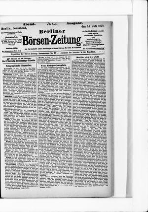 Berliner Börsen-Zeitung vom 14.07.1877