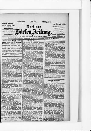 Berliner Börsen-Zeitung vom 15.07.1877