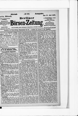 Berliner Börsen-Zeitung on Jul 18, 1877