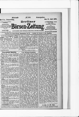 Berliner Börsen-Zeitung vom 19.07.1877