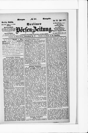 Berliner Börsen-Zeitung vom 22.07.1877