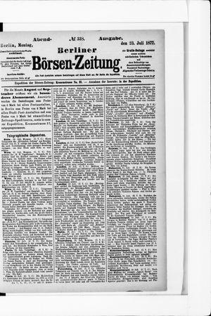 Berliner Börsen-Zeitung vom 23.07.1877
