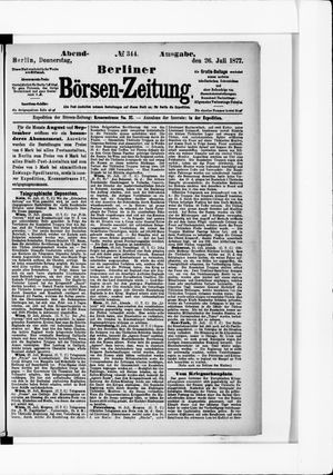 Berliner Börsen-Zeitung vom 26.07.1877