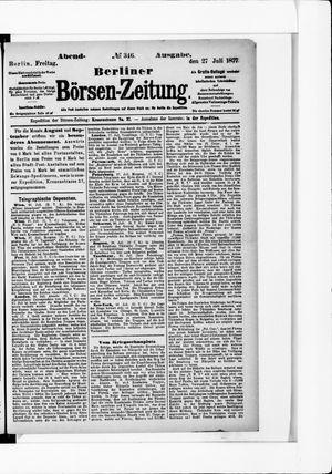 Berliner Börsen-Zeitung vom 27.07.1877