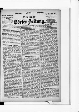 Berliner Börsen-Zeitung vom 28.07.1877